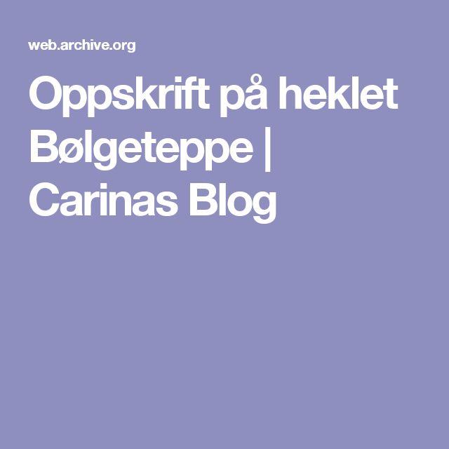 Oppskrift på heklet Bølgeteppe | Carinas Blog