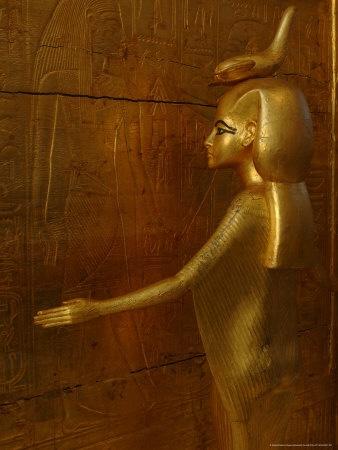 Goddess Selket, Tutankhamun Gold Canopic Shrine, Valley of the Kings, Egyptian Museum, Cairo - Egypt