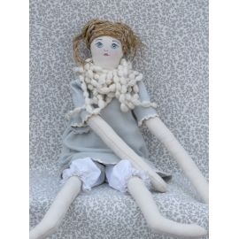 Rag Doll with Knitted Necklace