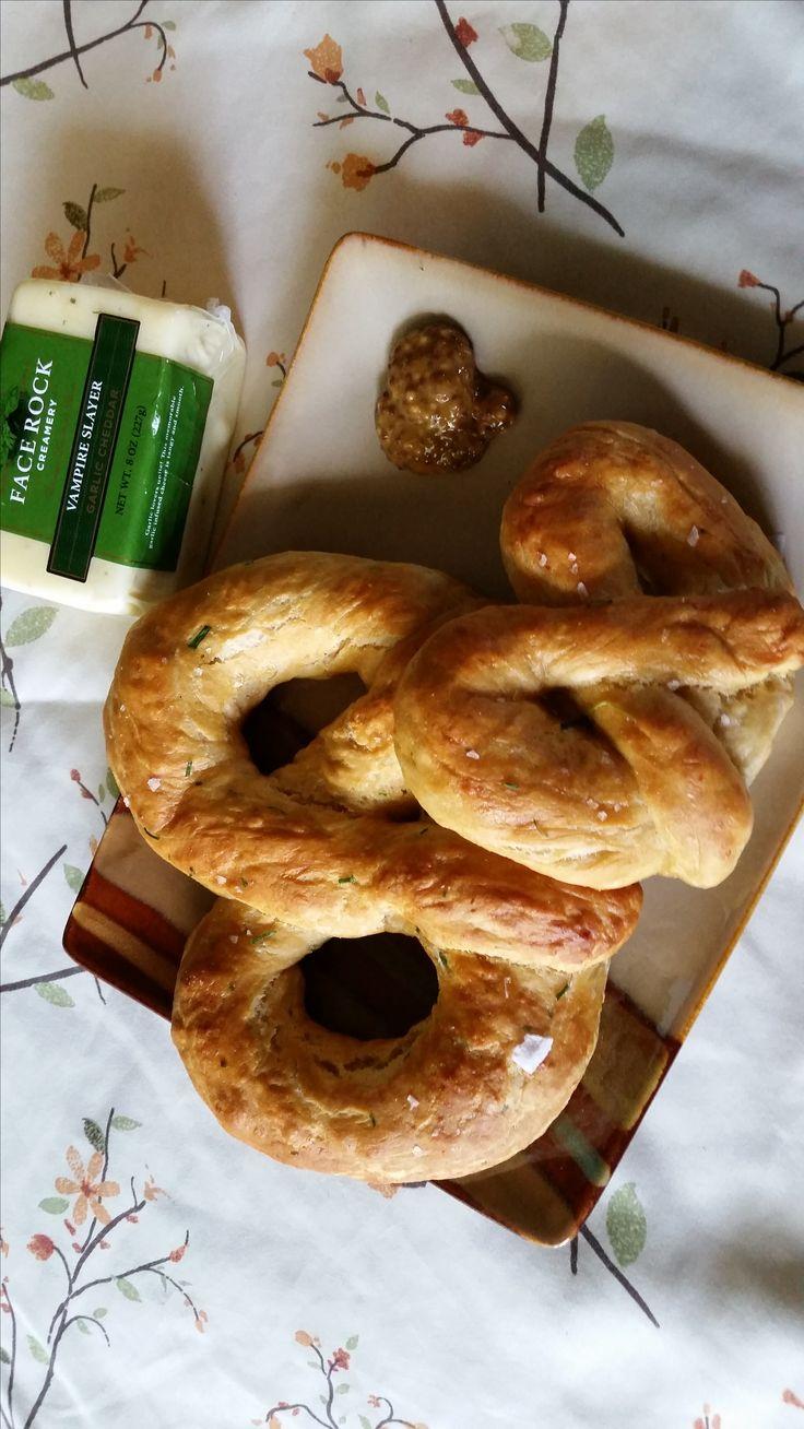 Get a dose of cheesy garlic goodness with our Vampire Slayer Pretzel recipe.