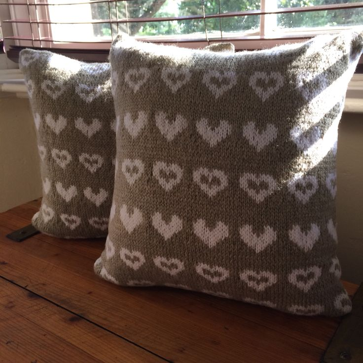 Made with love heart pillow