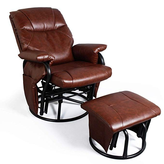 Pin On Game And Recreation Room Furniture Leather glider recliner with ottoman