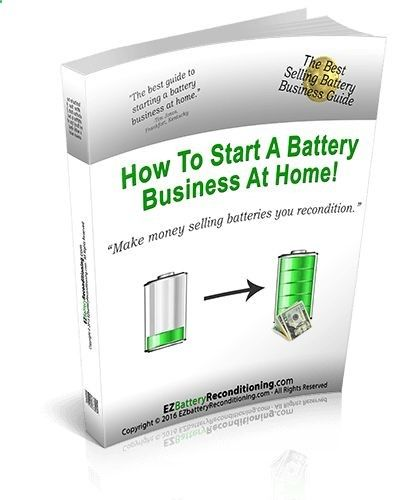 Learn how to easily recondition old batteries back to 100% of their working condition. Our battery reconditioning methods works for nearly all types of batteries; car, phone, laptop, solar/wind, forklift, golf cart, marine batteries - PLUS a lot more!