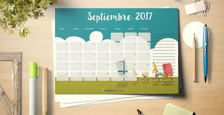 Llegamos al final del mes de agosto, mañana ya #septiembre. Para much@s vuelta al trabajo, después de las #vacaciones y para otr@s, otro mes más de trabajo.  Para tod@s, os comparto este #calendario septiembre 2017 para que empecemos el mes con buen pie.