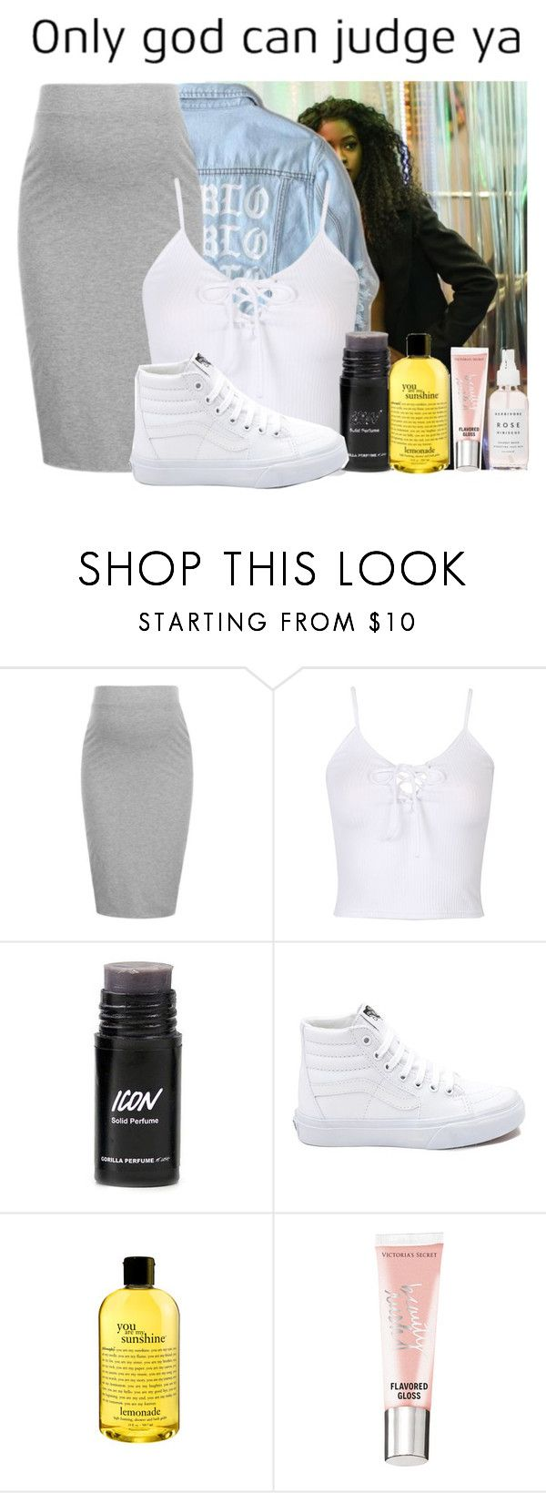 """Untitled #364"" by clarinet4ever ❤ liked on Polyvore featuring Yeezy by Kanye West, Topshop, WithChic, Vans, philosophy, Victoria's Secret and Herbivore"