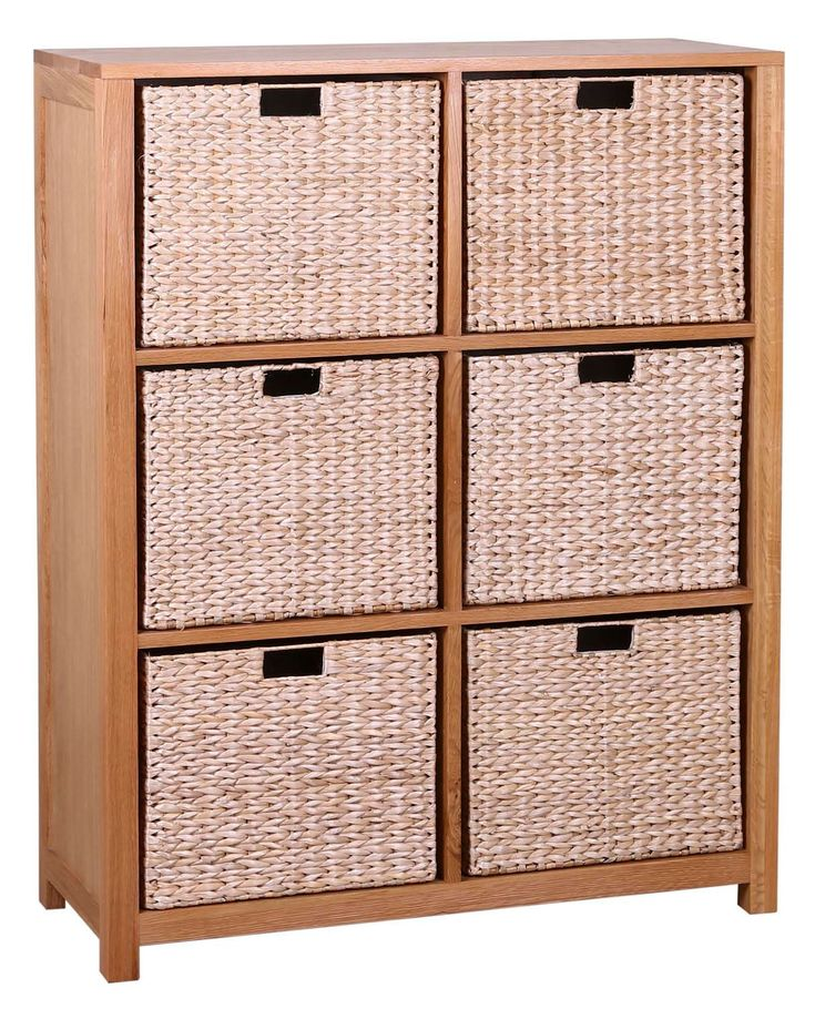 W+AE166:AE213averly Oak Large Storage Unit with 6 Baskets | Hallowood