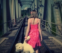 teenager and her teddy bear: Photo Ideas, Teddybear, Awesome Pictures, Bears Hotbook, Teddy Bears, Railroad Photography, Girl Photography, Pretty Pictures, Picture Ideas