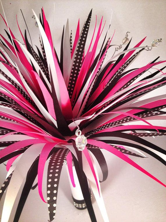 40 best paper flowers images on pinterest paper flower bouquets hot pink and black polka dot punk rock and roll by prettypaperflower 8000 mightylinksfo Gallery