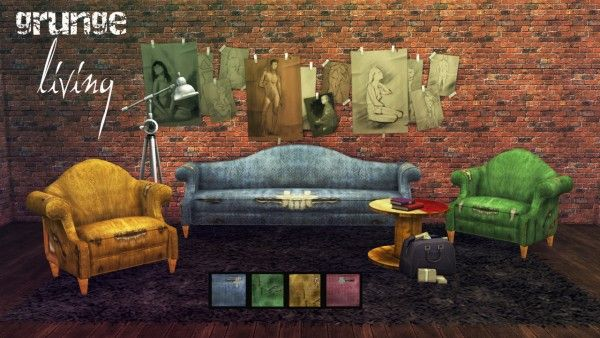 Brial Immortelle Grunge Living Sofa And Living Chair