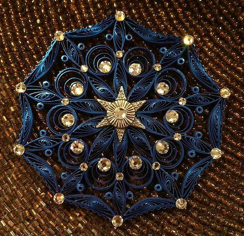 Quilled Mandala Ornament