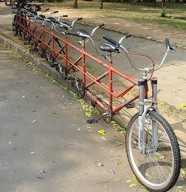 Tandem Bicycle - This would be so funny to watch!
