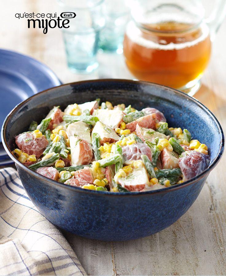 Salade de maïs et pommes de terre #recette