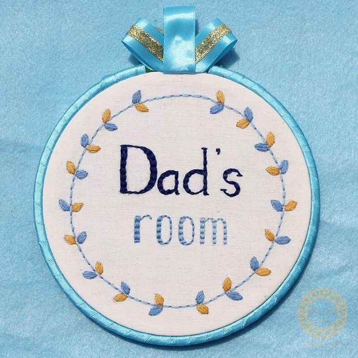 Dad's room_room decoration_hand embroidery