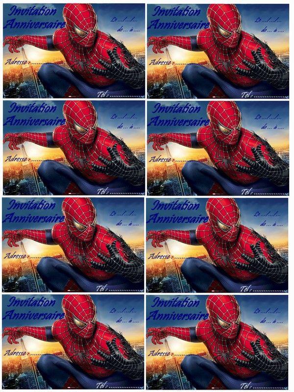 Les 25 meilleures id es de la cat gorie coloriage - Decoration spiderman pour anniversaire ...