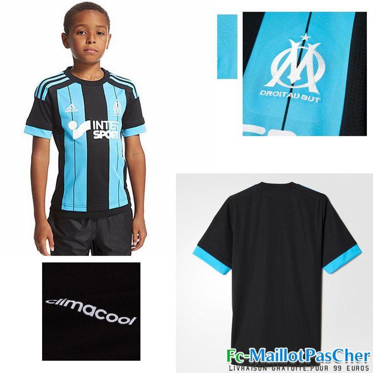 Nouveau Maillots Olympique de Marseille OM Enfant Exterieur 15 2016 2017