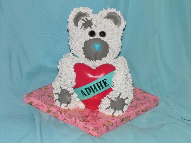 Teddy Bear cake with heart