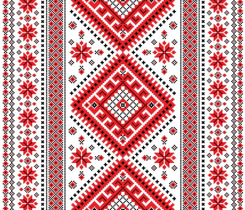 Free EPS file Ukrainian styles embroidery patterns vector set 04 ...