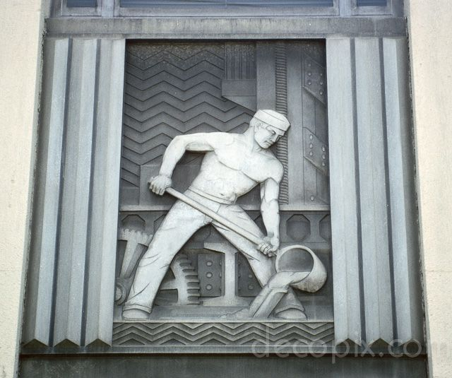 Aluminum Panel, Alcoa Aluminum Company, Los Angeles, California | Art Deco Metalwork Gallery