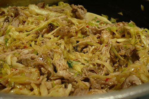 CHICKEN AND CABBAGE CHILI -- 2 C. chicken broth -- 1T. cumin -- 1T. chili powder -- 1t. cayenne pepper -- 1 t. black pepper -- 4 oz. cooked chicken, cubed -- 1 C. shredded cabbage -- Pour the broth into a saucepan and place over high heat. Stir in cumin, chili powder, cayenne and black pepper. Bring to a boil. Once boiling carefully stir in the chicken and cabbage. Reduce heat to med. and cover simmer the chili for 15 minutes or until heated through
