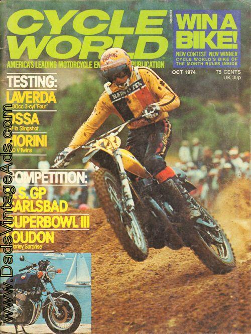 1974 October Cycle World Magazine – USGP Carlsbad