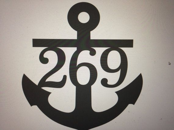 Anchor House Numbers Beach themed Ocean by GlamorousFindings, $24.50