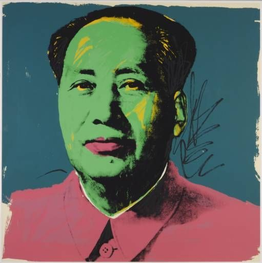 Artwork by Andy Warhol, Mao Tse-Tung, [no title], Made of Screenprint on paper