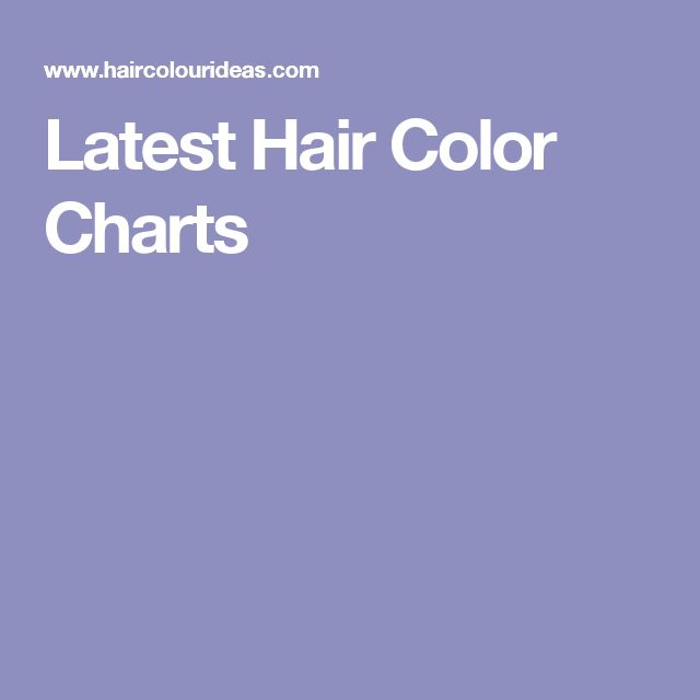 Latest Hair Color Charts