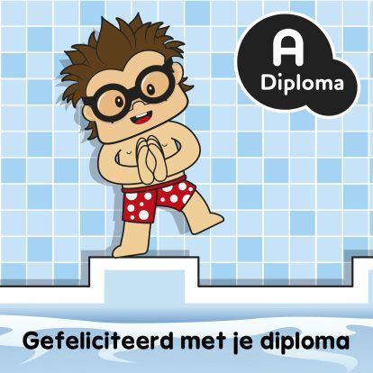 Geslaagd kaarten - Felicitatiekaart jongen zwemdiploma A. Meer Bengels vind je ook op www.debengelfamilie.nl