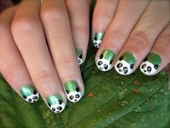 Adorable Panda Nail Art