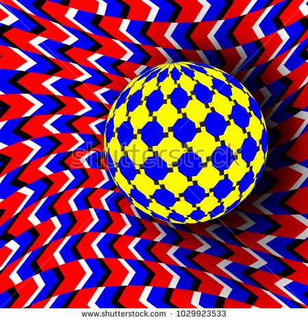 Illusion Vector. Optical 3d Art. Motion Dynamic Effect. Optical Effect. Swirl Illusion. Hypnosis Fallacy Geometric Magic Background Illustration