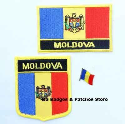 Moldova flag patch badge 3pcs a Set Free Shipping #Affiliate