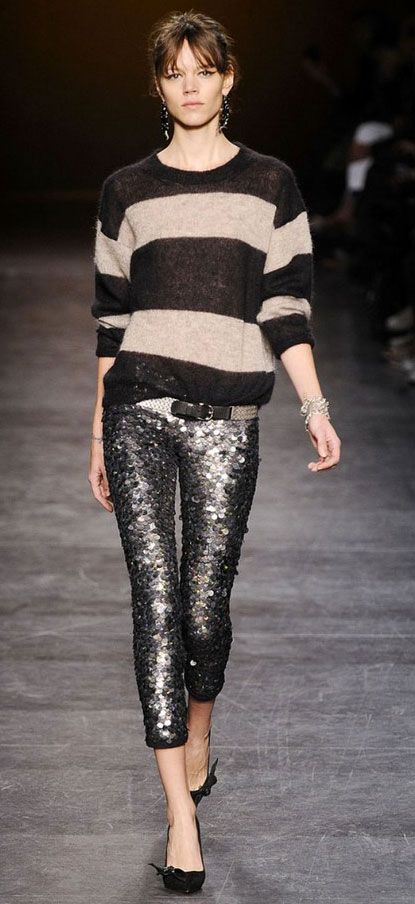 """...(I) found myself falling head-over-heels once again for the high-glam yet insouciant friend that is the sequin pant. """