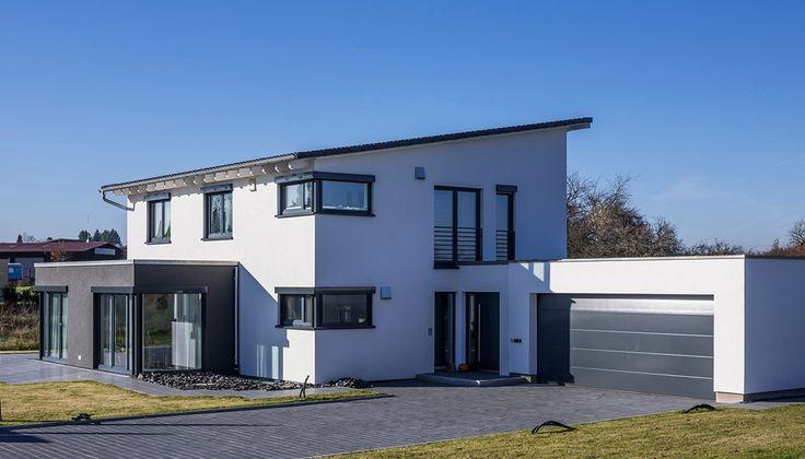Schlüsselfertiges Massivhaus Spektralhaus: Individuelles Holzfertighaus, Architektenhaus Mit Pultdach