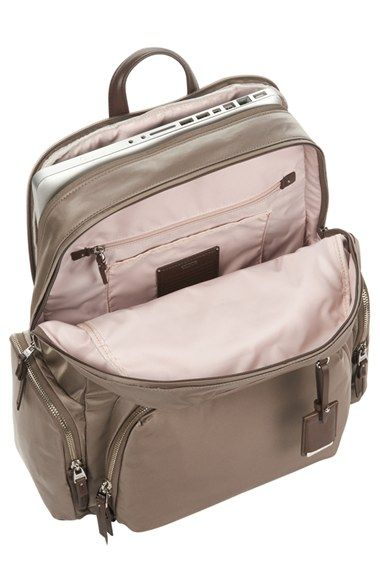Free shipping and returns on Tumi 'Calais' Computer Backpack (16 Inch) at Nordstrom.com. Streamlined, sophisticated styling lends smart elegance to a versatile backpack crafted from lightweight, durable nylon for long-lasting use. A profusion of interior pockets lets you organize your laptop, electronics and personal accessories with care, while exterior pockets are perfect for stashing fast-access items—making the practical, pretty style ideal for business, travel and everyday outings.