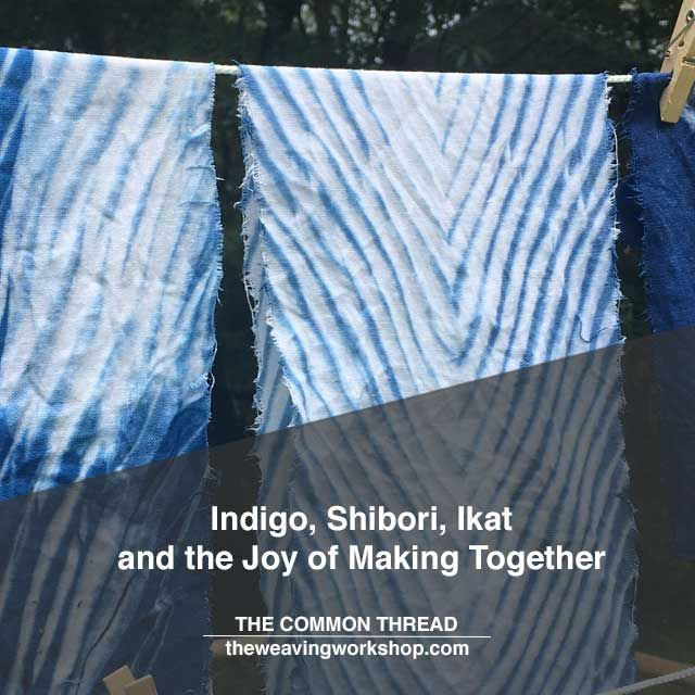 There's something so inspiring about a story about a creative community of artists gathering to learn, make, and experiment with textile techniques and materials.   @kristincrane shares her experience with an indigo dyeing workshop hosted by Cathy Wilkerson of The Indigo Squirrel @theindigosquirrel that gathers in Providence, RI.   Read her story on The Common Thread blog at theweavingworkshop.com.  Direct link in profile.  #theweavingworkshop #weaving #handweaving #ikat #shibori #indigo…