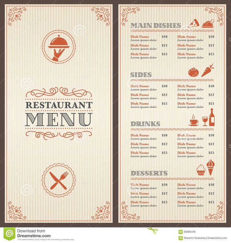 21 best Menu images on Pinterest Diners, Restaurant and Restaurants - Cafe Menu Template