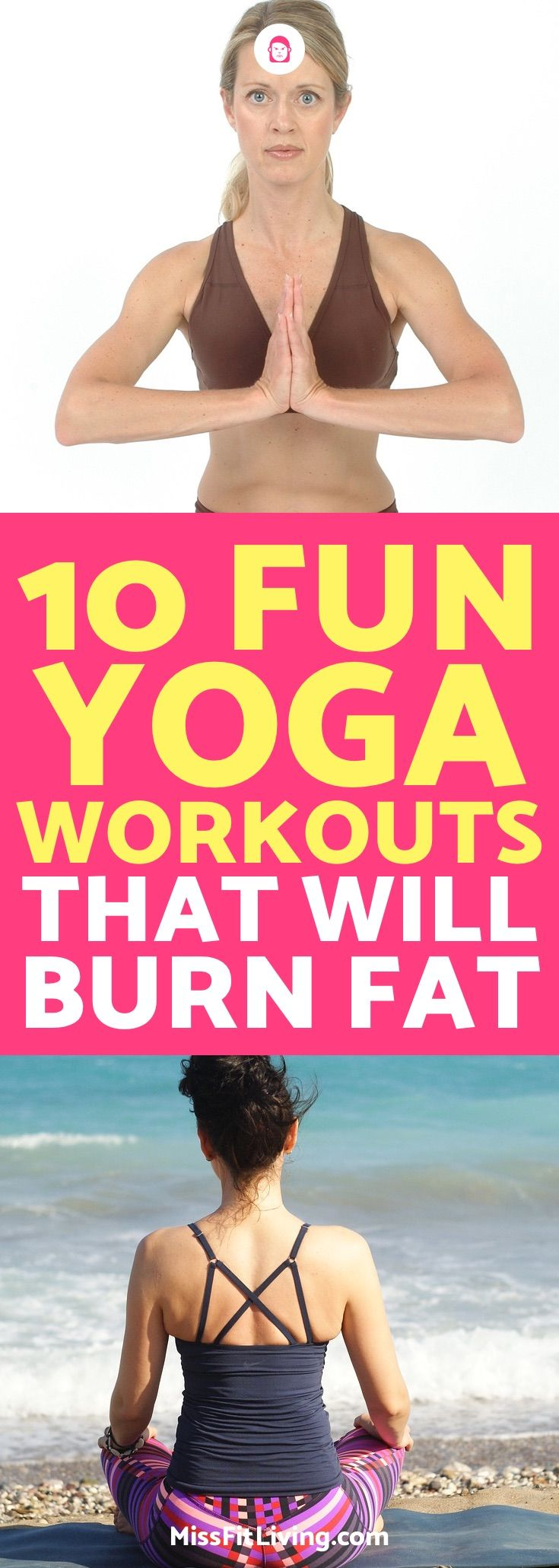 Yoga is a great way to lose weight and burn fat. These 10 yoga workouts are grea...