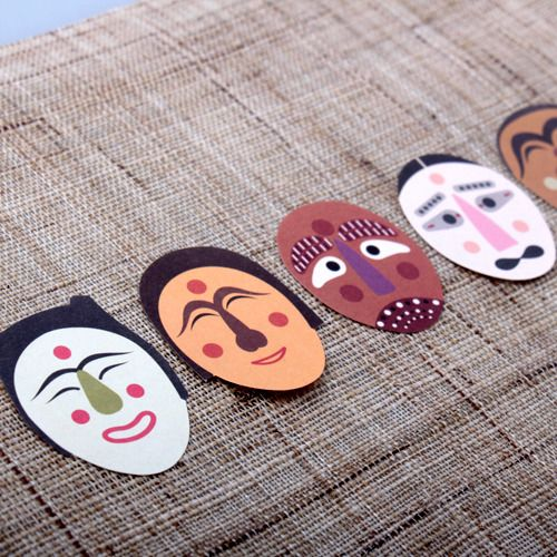 Traditional Korean mask sticker