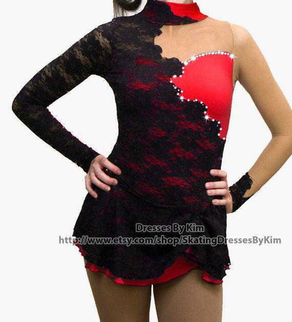 Patinage artistique personnalisé robe, Costume de Twirling Baton, robe de danse