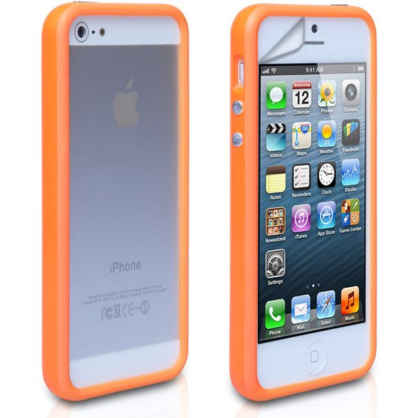YouSave iPhone 5 5S Bumper Case Orange (15 BRL) ❤ liked on Polyvore featuring accessories, tech accessories, iphone, phone cases, iphone cases, phone, tech, apple iphone case and iphone cover case