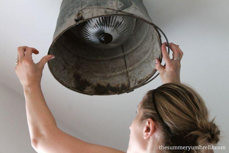 diy bucket light