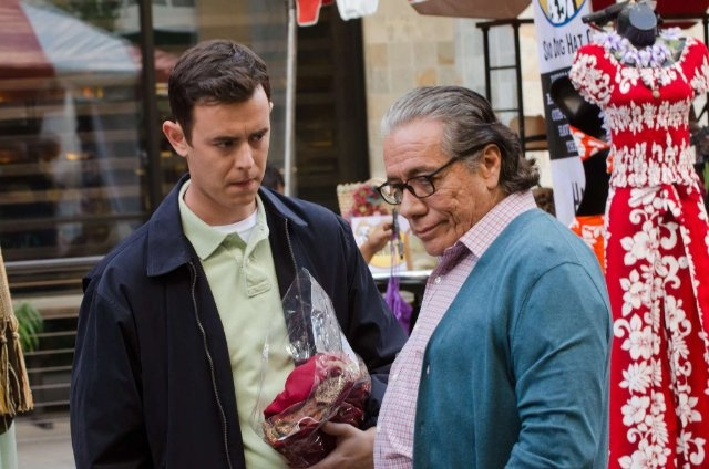 Still of Edward James Olmos and Colin Hanks in Dexter