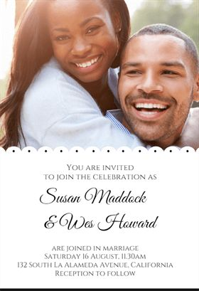 """Two to One""  printable invitation template. Customize, add text and photos. Print or download for free!"