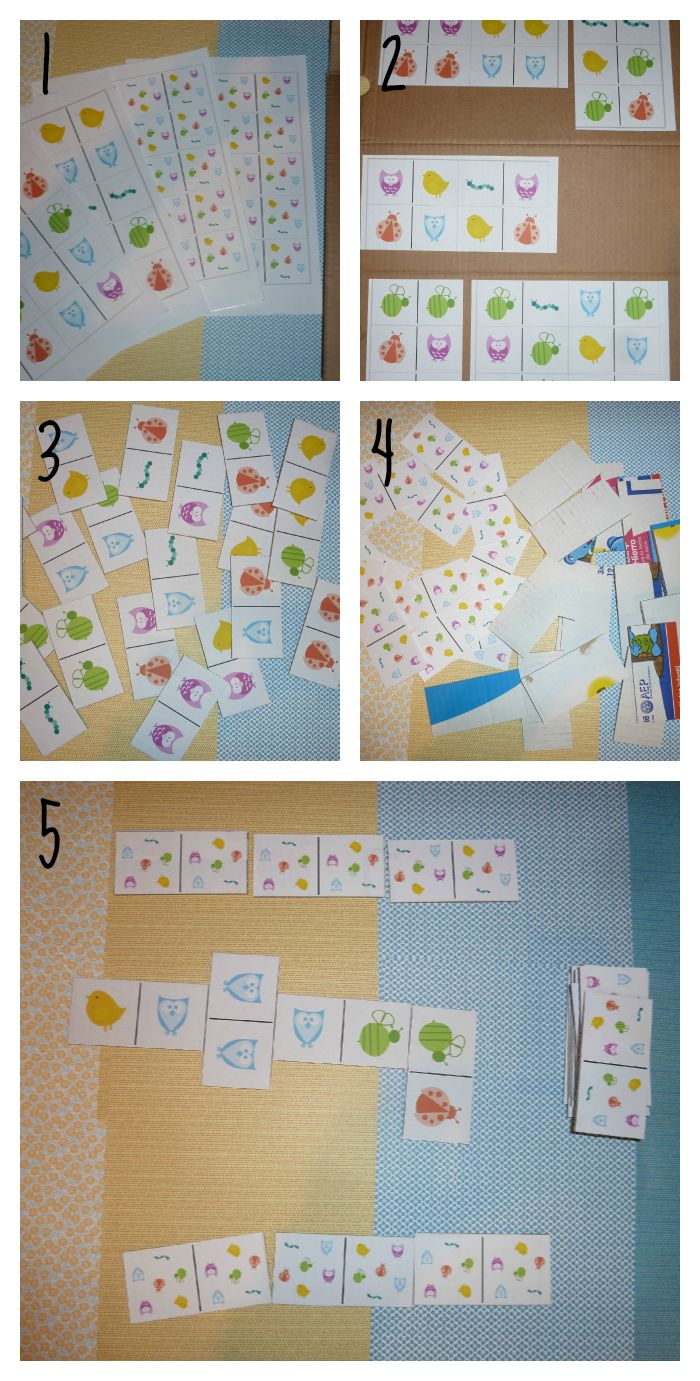 Un dominó para descargar, ideal para los niños! Listo para imprimir
