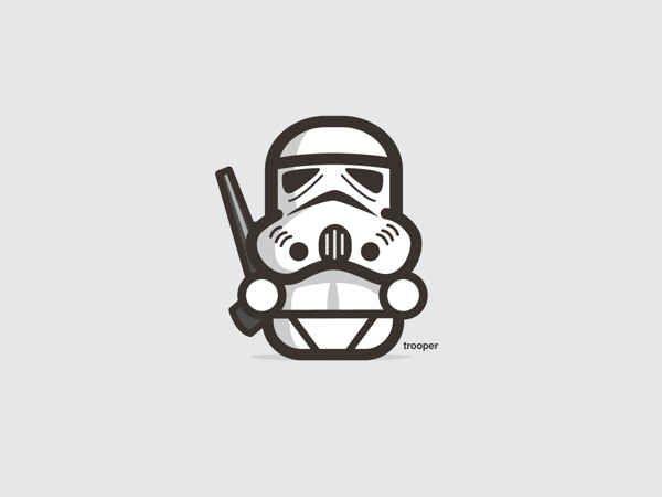 Stormtrooper | 9 Insanely Cute 'Star Wars' Illustrations