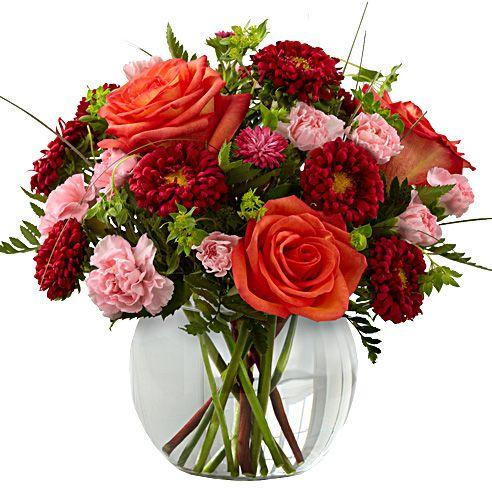 Thanksgiving dinner tables fresh flower arrangement and for Small fresh flower table arrangements
