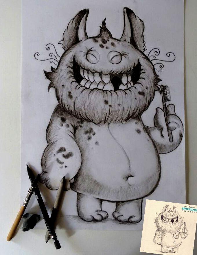 Sigo practicando con estos simpáticos dibujos de Chris Ryniak www.chrisryniak.com en esta oportunidad utilicé lápiz de carbonilla, esfumino, lápiz 0,7 HB y goma de borrar. Espero les guste...