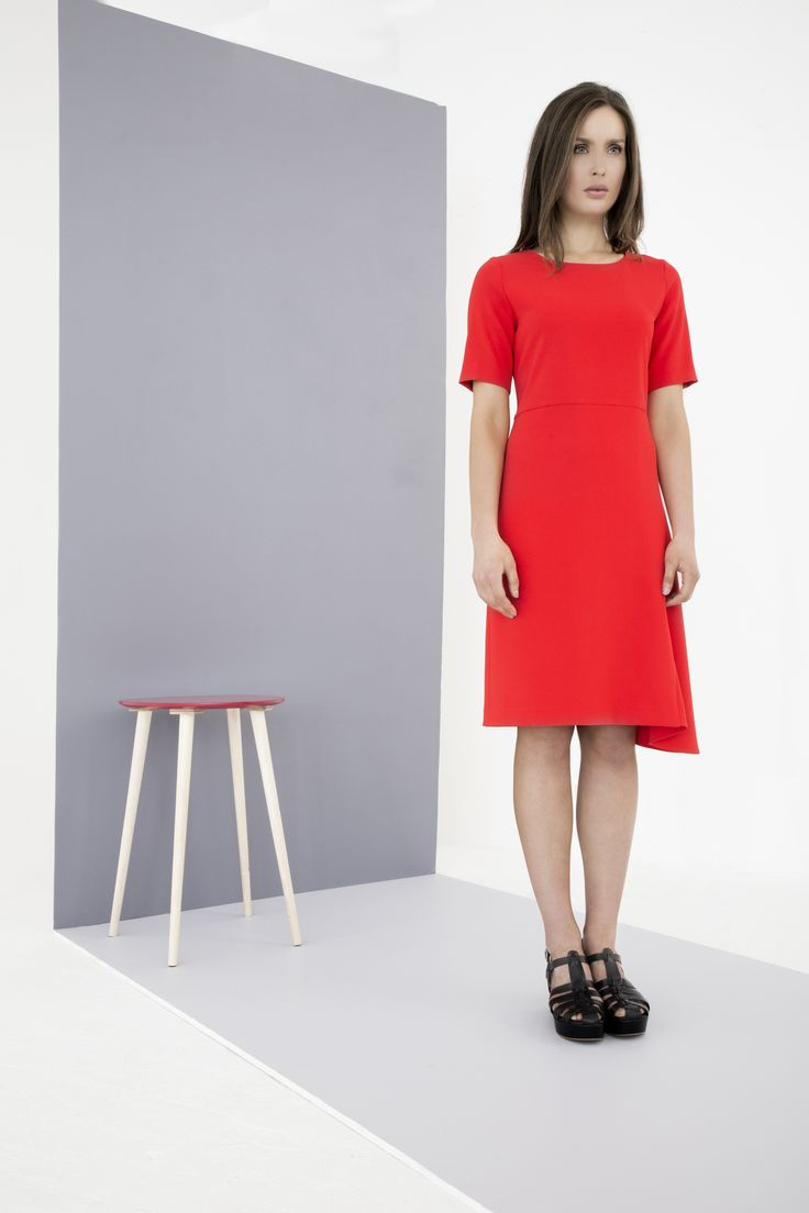 Short-sleeved dress with draped hem by Carolyn Donnelly The Edit
