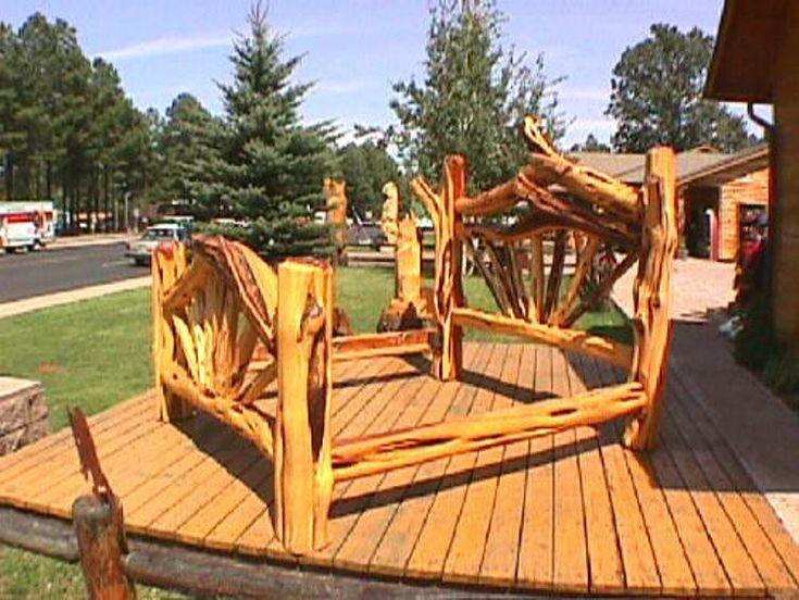 cedar bed frame plans | ... Cedar King Size Bed uses Hand ...