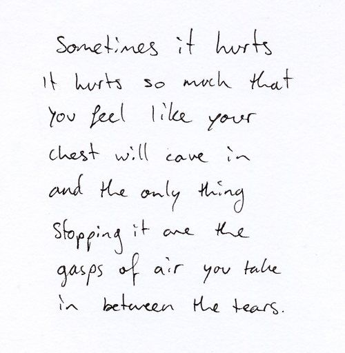 Grief feels like this :(